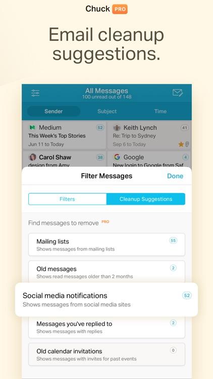 Chuck Email: Organized Mailbox screenshot-5