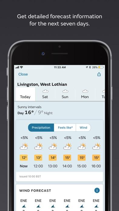 Met Office Weather Forecast Screenshots