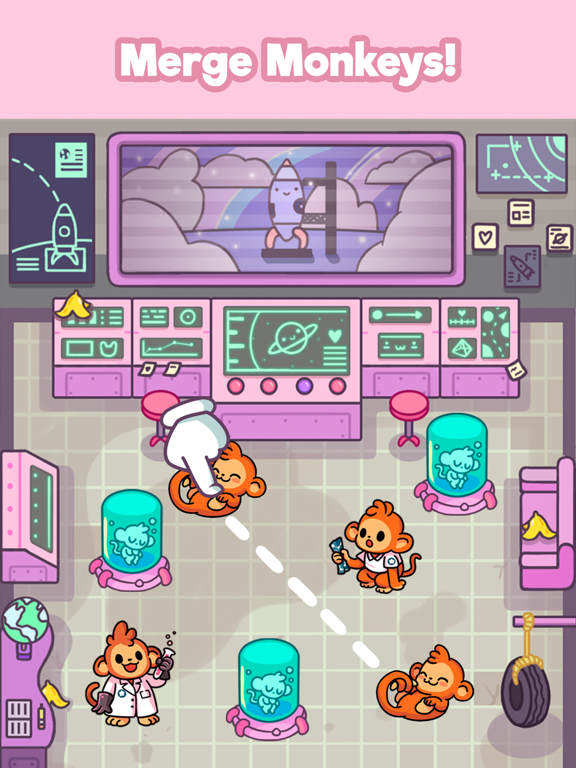 Monkeynauts: Merge Monkeys! screenshot 2