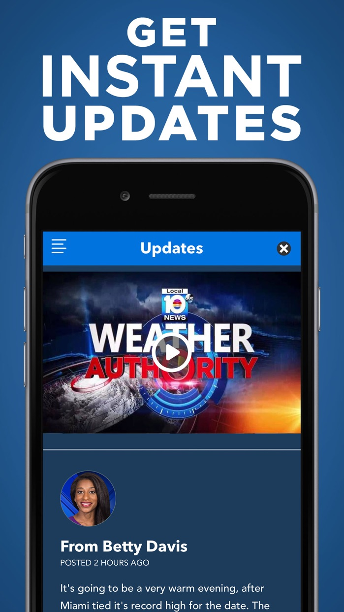 WPLG Local 10 Weather Screenshot