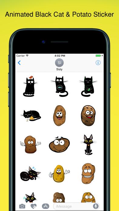 Black Cat Sticker! screenshot one