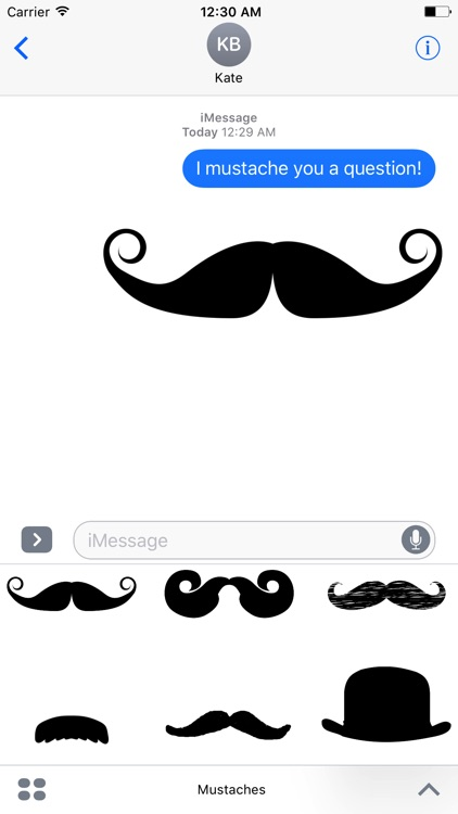 Crazy Mustache Stickers
