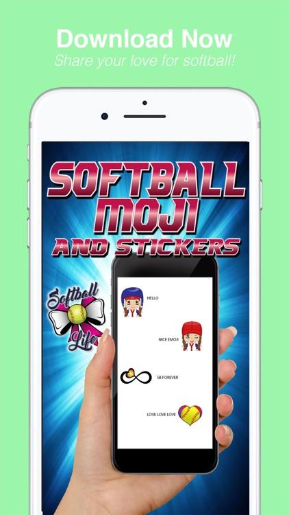 SoftballMoji and Stickers screenshot-4