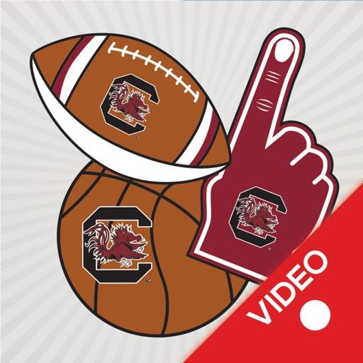 South Carolina Gamecocks Animated Selfie Stickers