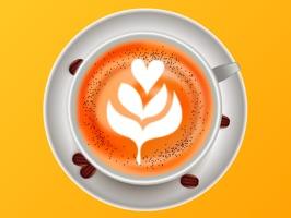 Latte Coffee Sticker