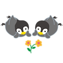 Adorable Twin Penguins Sticker