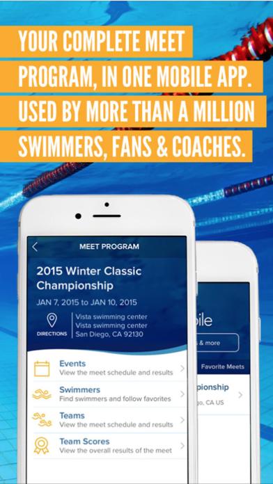 Meet Mobile: Swim Screenshot
