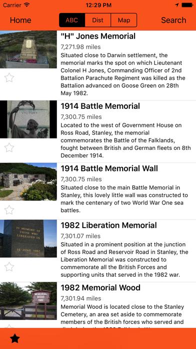 Screenshot of Falkland Islands Tourist Board App