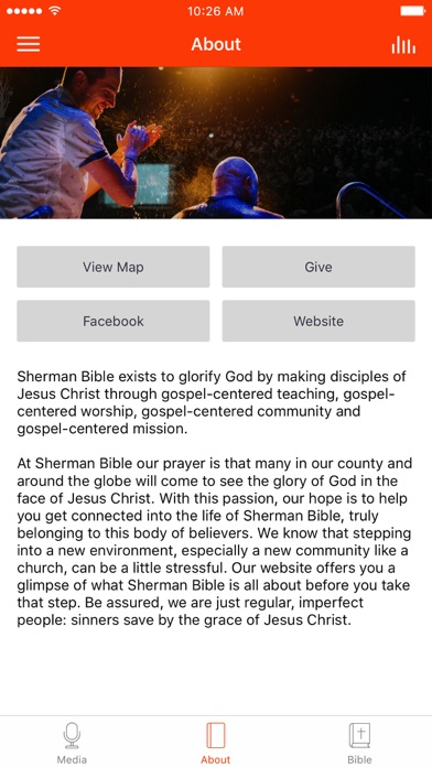 Sherman Bible Church screenshot 2