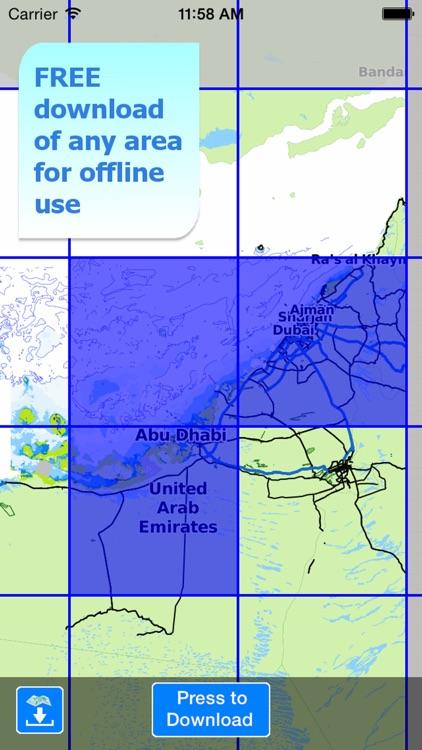 Aqua Map UAE - Nautical GPS screenshot-4