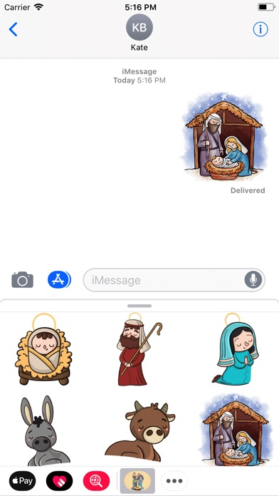 Cozy Nativity Scene Stickers-0