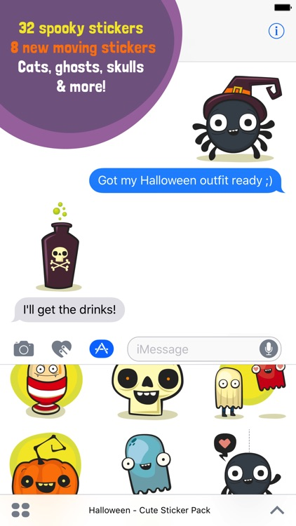 Halloween - Cute Sticker Pack