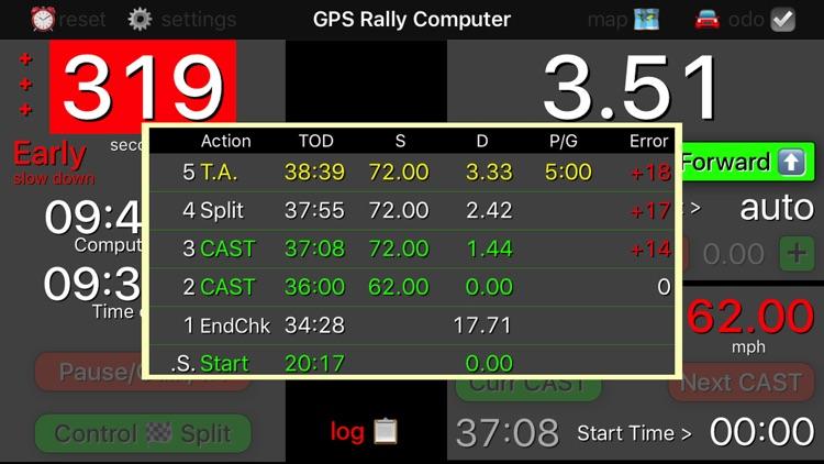 GPS Rally Computer screenshot-4