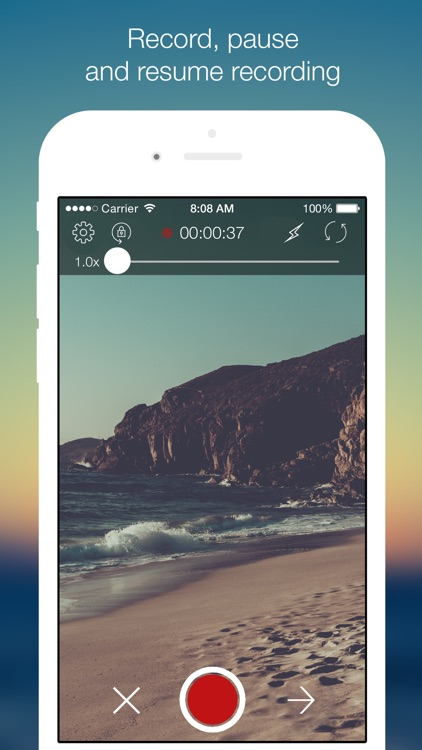 VideoCam+ Pause, Edit, Filters