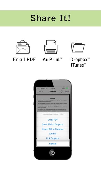 Pocket Bill of Sale Pro screenshot-4