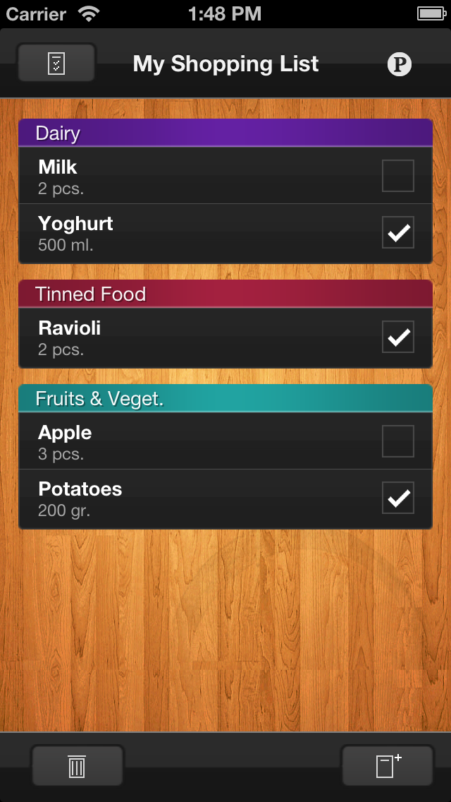 ShopList (Grocery List) Screenshot