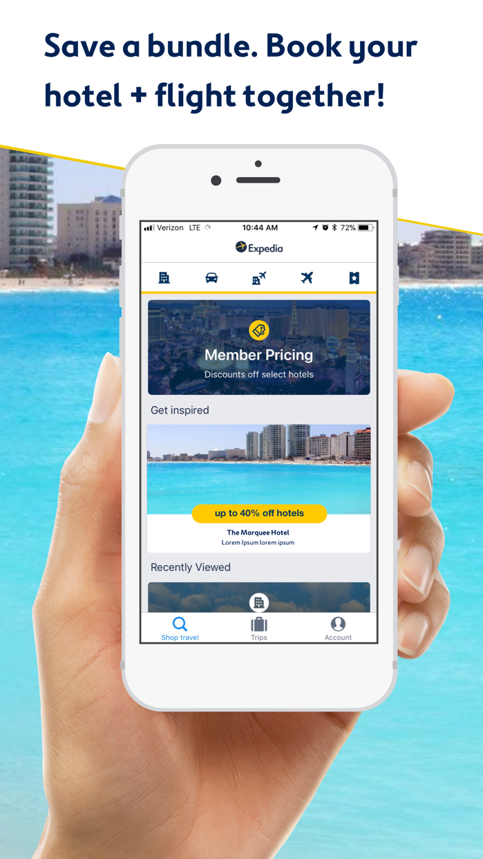 Expedia: Hotels, Flights & Car Screenshot