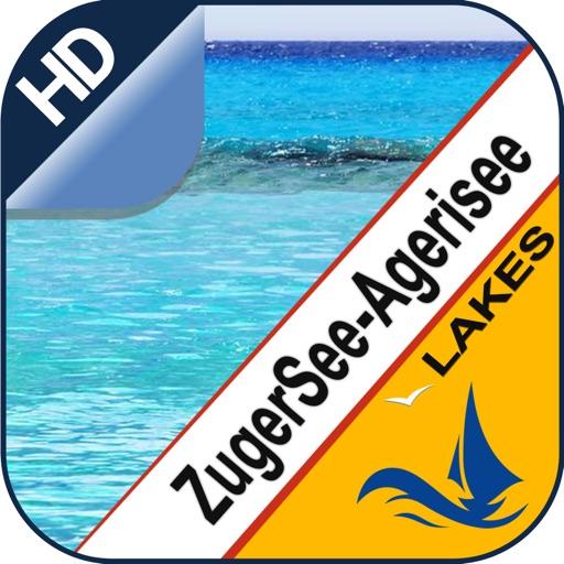 Zug & Aegeri Lake offline nautical fishing charts