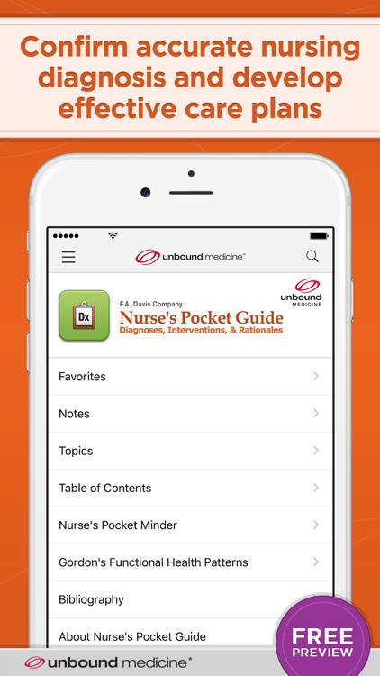 Nurse's Pocket Guide-Diagnosis screenshot-0