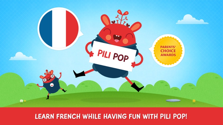 Pili Pop Français : learn French for kids screenshot-0