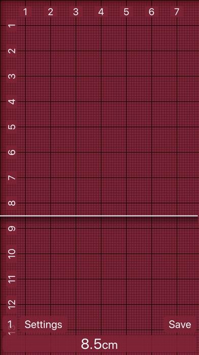 Screenshot of Ruler 2.0 - inch, mm, cm App