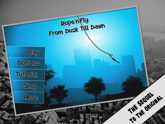 Screenshot #1 for Rope'n'Fly 3 - Dusk Till Dawn