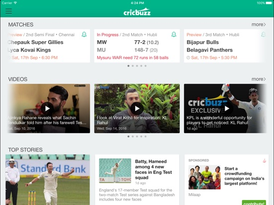 Cricbuzz Cricket Scores & News - AppRecs