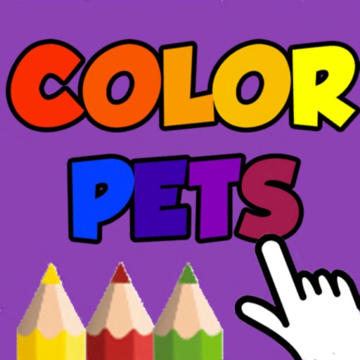 Coloring Pets Book with finger