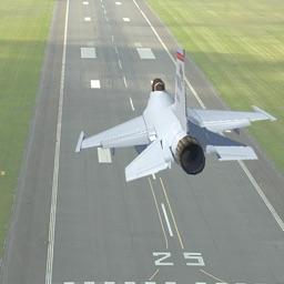 Jet Fighter Plane Landing Simulator
