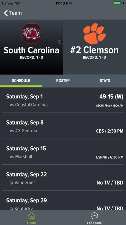 Clemson Football Schedules screenshot-9