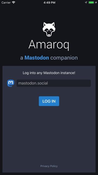 Amaroq for Mastodon