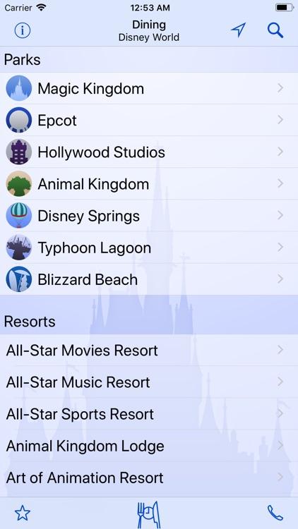 Dining for Disney World screenshot-3