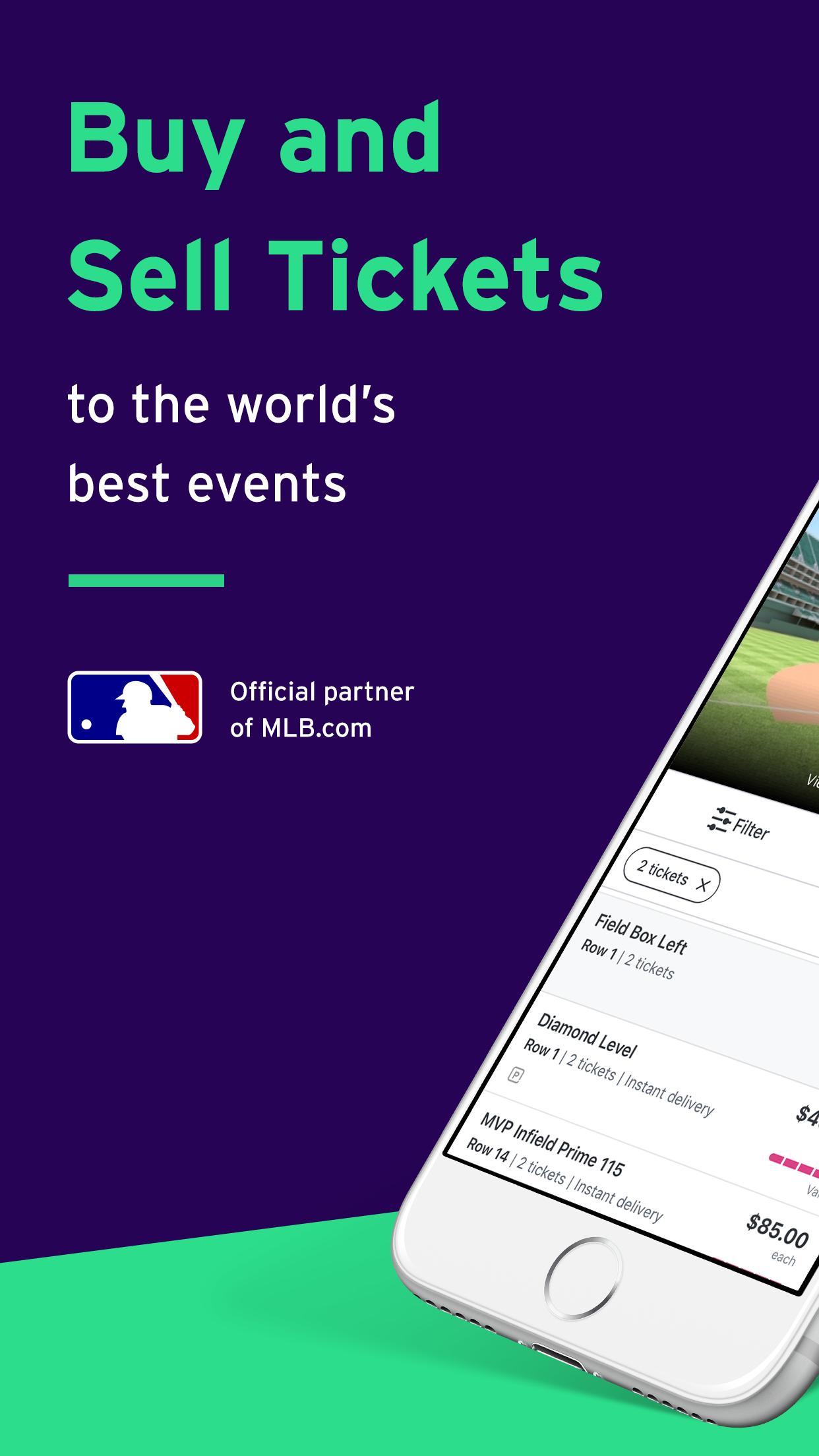 StubHub - Mobile Event Tickets Screenshot