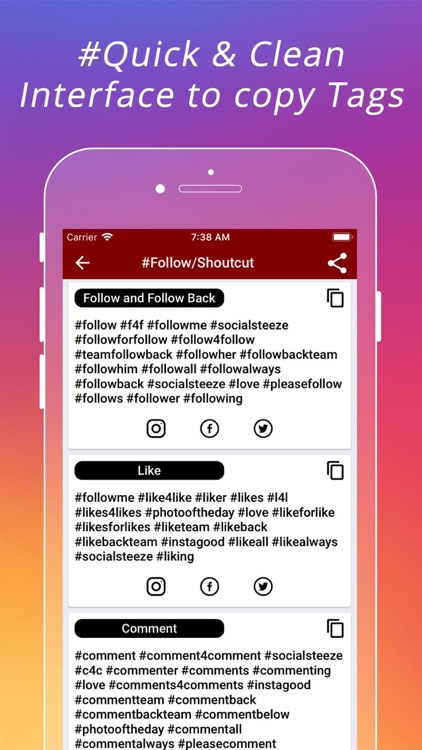 Popular HashTags for Instagram screenshot-3