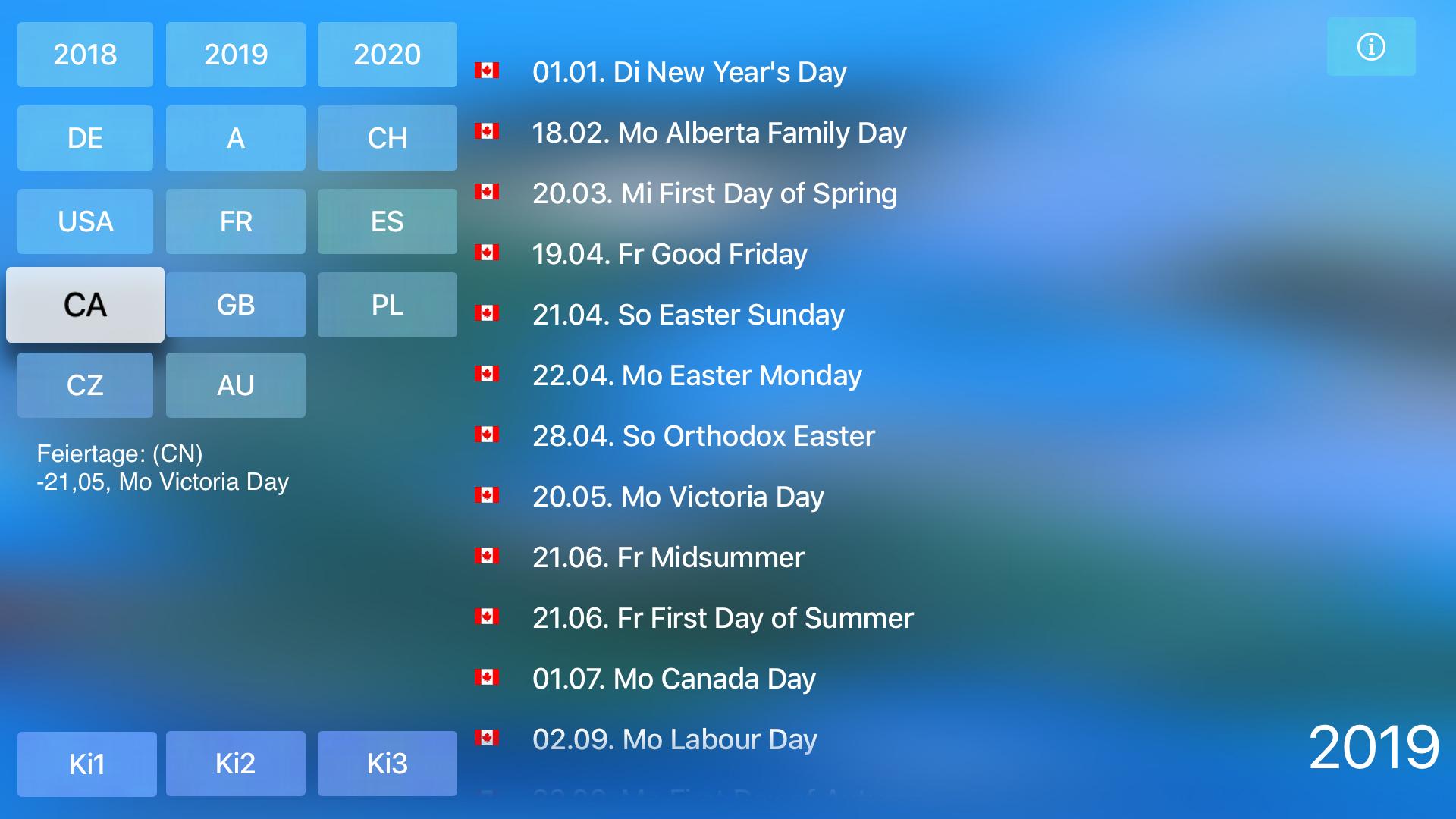 Holidays for TV screenshot 7