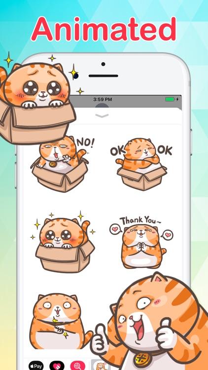 Chubby Cat Stickers Animated screenshot-0