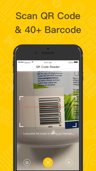 QR Code Reader & Scanner App Screenshot on iOS