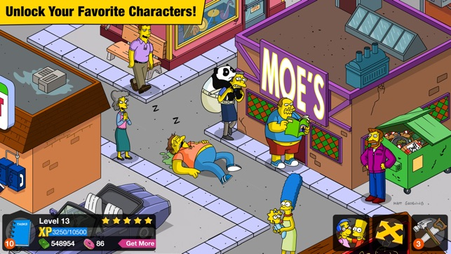 simpsons tapped out iphone cant see android friends