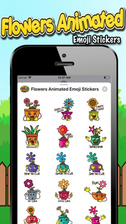Flowers Animated Emoji Sticker