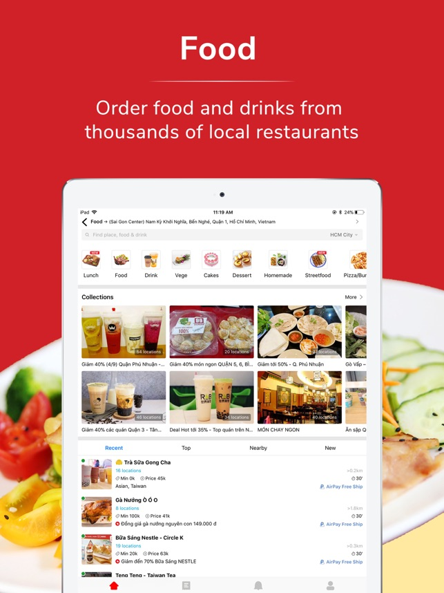 now vn food delivery on the app store