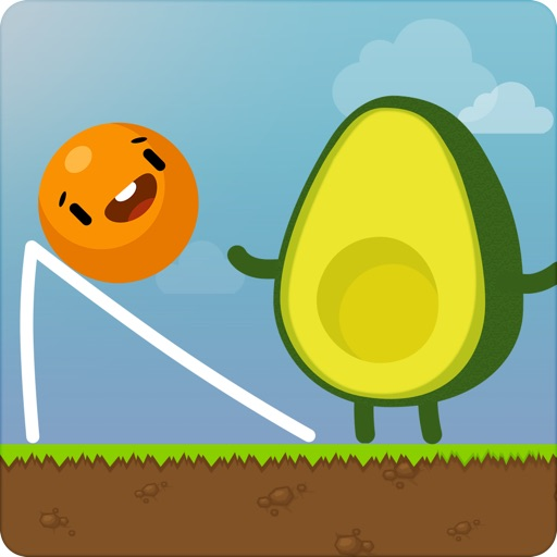 Where's My Avocado? Draw lines app for ipad