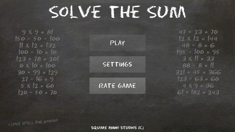 Solve the Sum screenshot-0