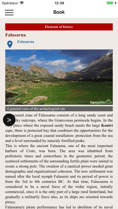 Screenshot of Crete: Gramvousa topoguide App