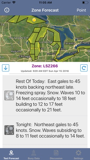 Great Lakes Boating Weather on the App Store