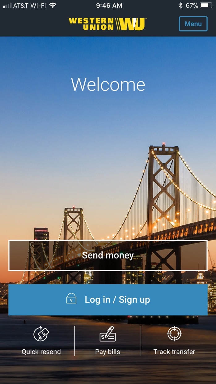 Money Transfer WesternUnion US Screenshot