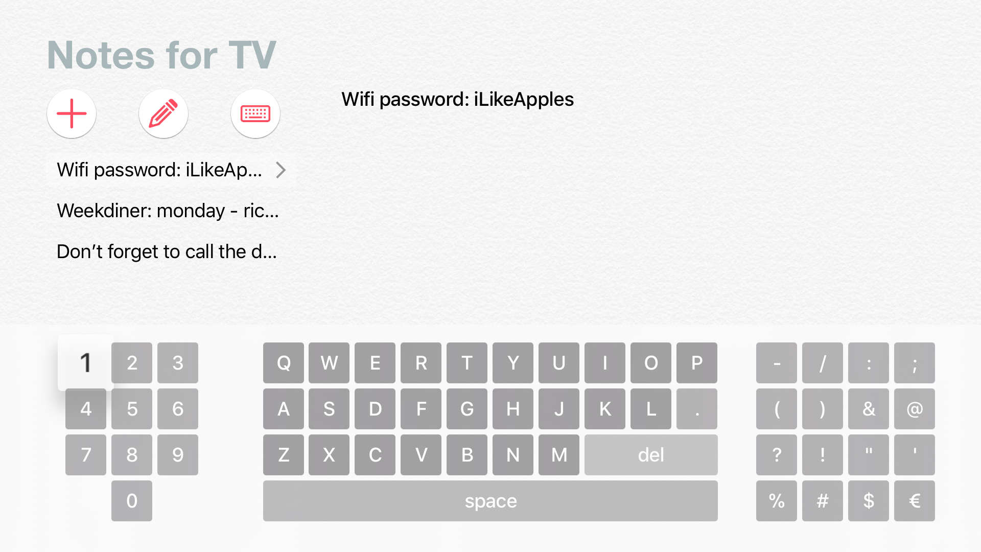 Notes for TV screenshot 2