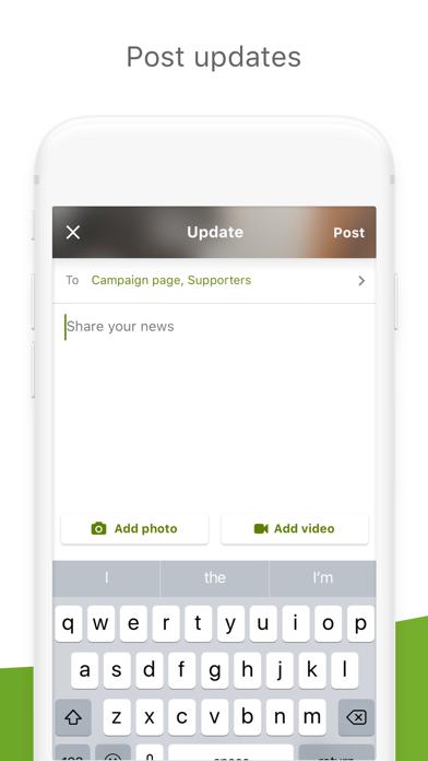 Screenshot 4 for GoFundMe's iPhone app'