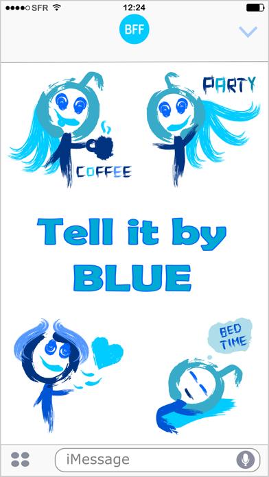 Paint It Blue - Stickers pack