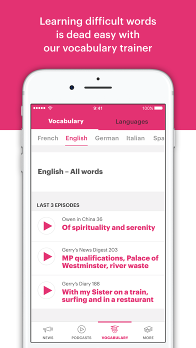 PodClub – learning languages screenshot four