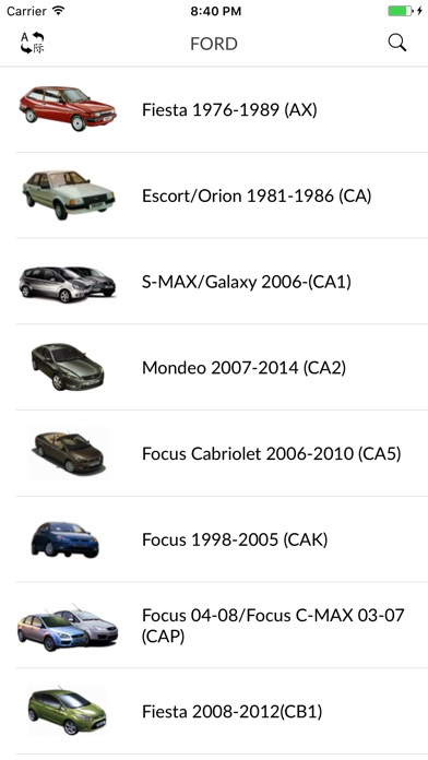 Screenshot for Car parts for Ford in Portugal App Store